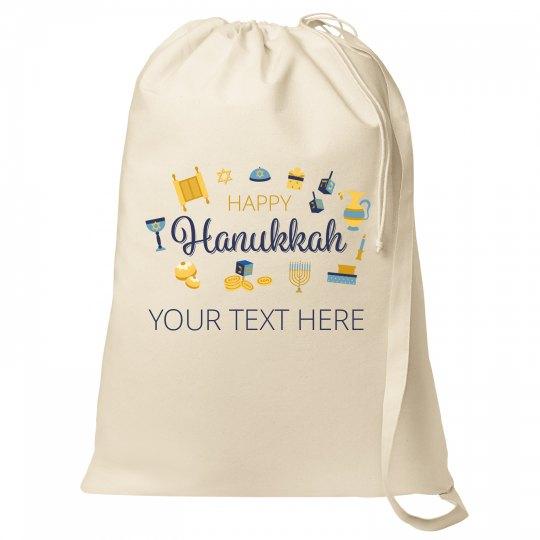 Happy Hanukkah Custom Text Bag