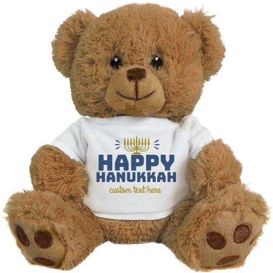 Happy Hanukkah Custom Text Bear