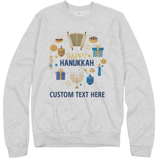 Happy Hanukkah Custom Traditions  Sweater