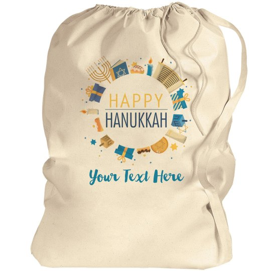 Happy HanukkahCustom Text Gift Bag