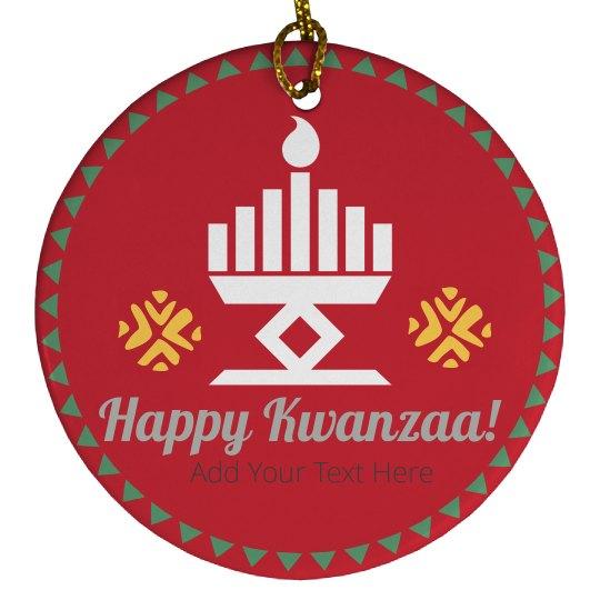 Happy Kwanzaa Custom Ornament