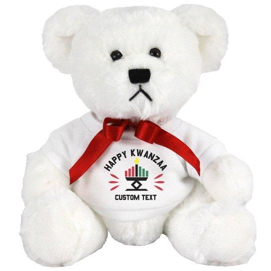 Happy Kwanzaa Custom Stuffed Bear