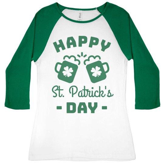 Happy St. Patrick's Day Raglan