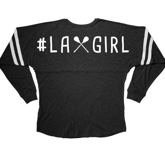 Hashtag Lax Girl Long-Sleeve Slub