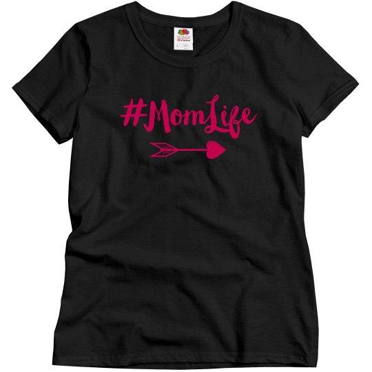 Hashtag Mom Life Shirt Black