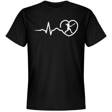 Heart beat baseball shirt