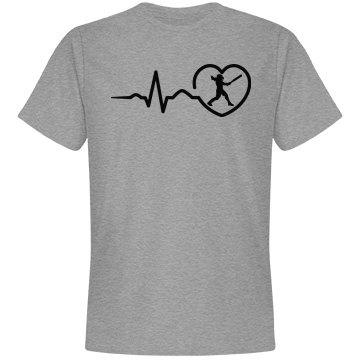 Heart beat baseball shirt