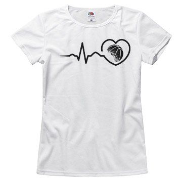 Heart beat basketball shirt