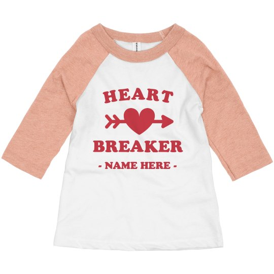 Heart Breaker Custom Toddler Raglan