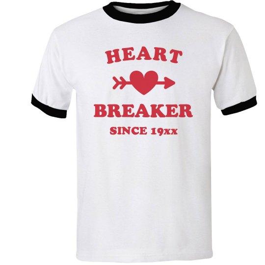 Heart Breaker Since Custom Vintage Ringer Tee