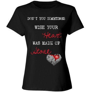 Heart of Stone Distressed Women's T-Shirt