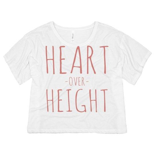 Heart Over Height Crop