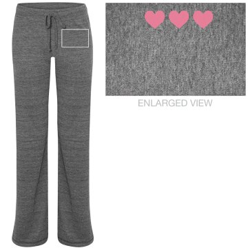 heart printed flared lounge pants