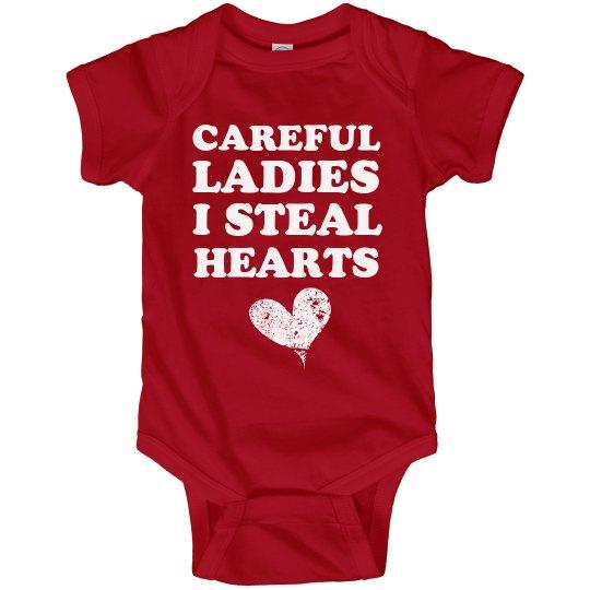 Heart Stealer Baby Bodysuit