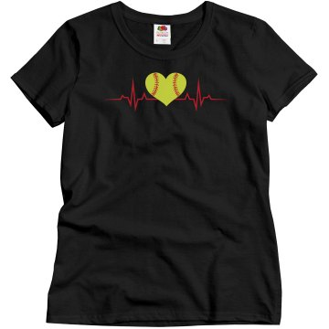 Heartbeat-Softball Tee