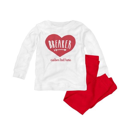 Heartbreaker Valentine's Day Baby Pajama Set