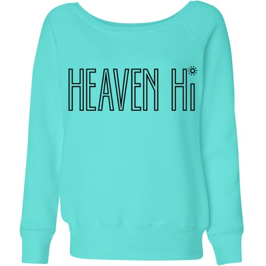 Heaven Hi sky-blue slouched sweatshirt