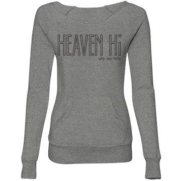 Heaven Hi wide neck sweatshirt