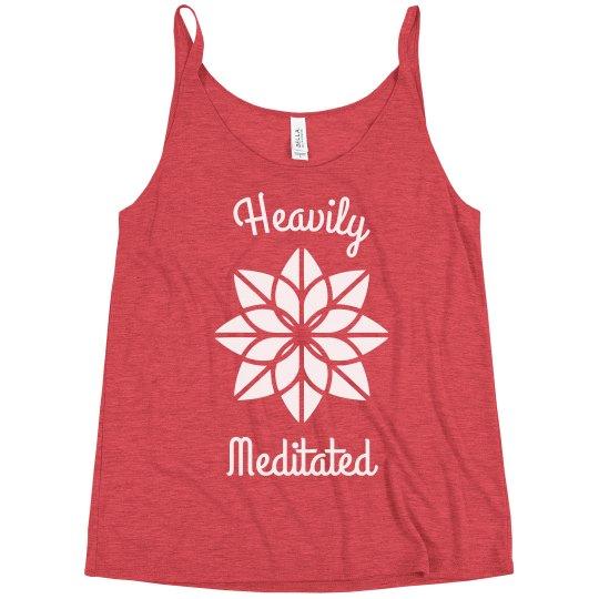 Heavily Meditated Funny Yoga Slouchy Yogi Tank