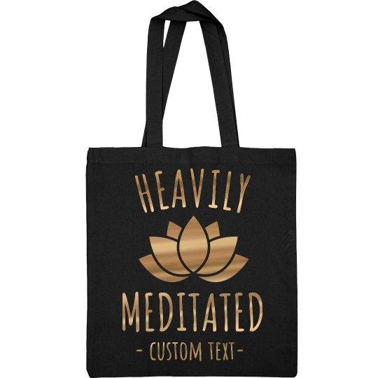 Heavily Meditated Metallic Yoga Tote