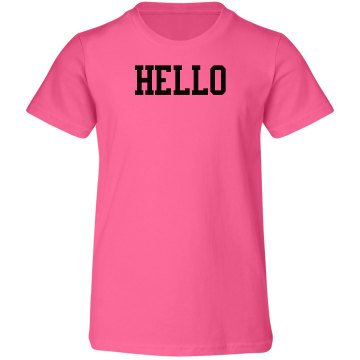 Hello and bye shirt