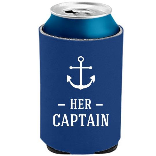 Her Captain Beer Koozie