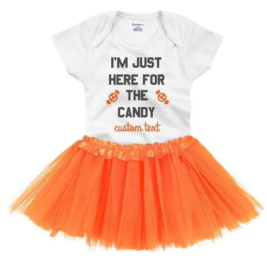 Here for the Candy Cutest Baby Halloween Onesie & Tutu