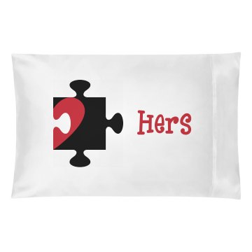Hers Puzzle Pillow