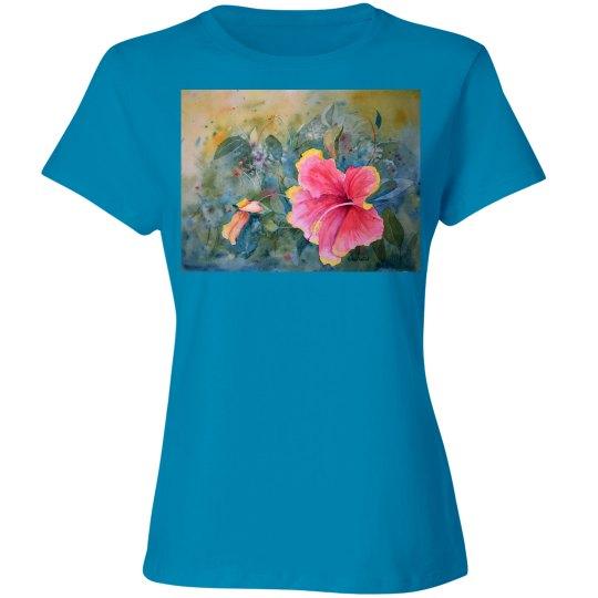 Hibiscus/Hummers ladies