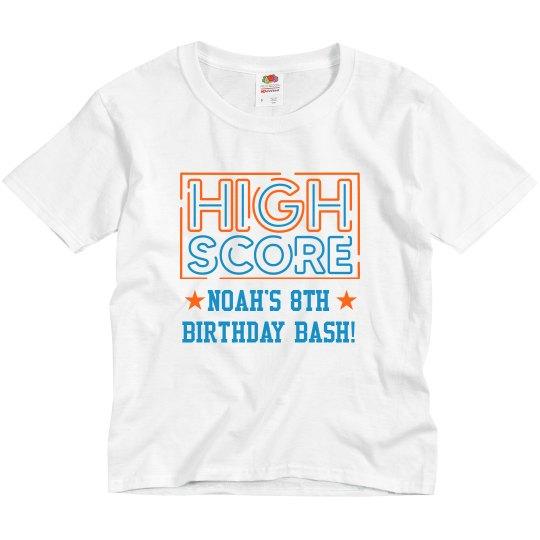 High Score Neon Birthday Tee