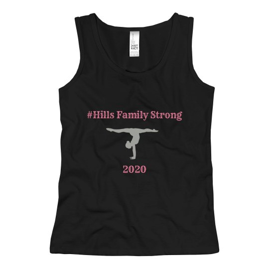 hills family strong youth tank black
