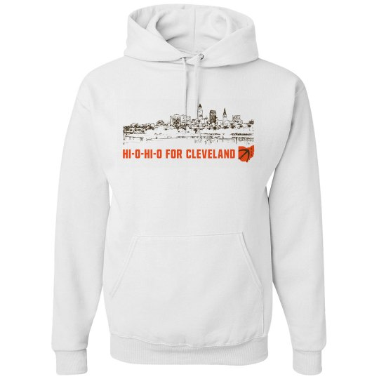 HI-O-HI-O Cleveland Ohio Skyline CLE Football Shirt
