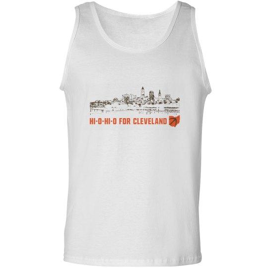 HI-O-HI-O Cleveland Ohio Skyline CLE Football Tank