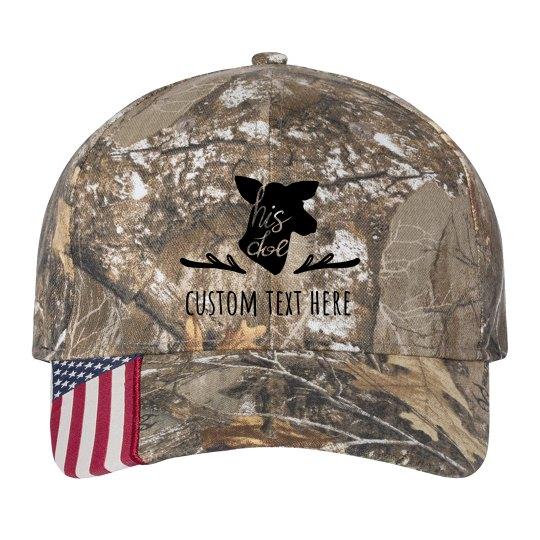 His Doe Custom Matching Camo Hat