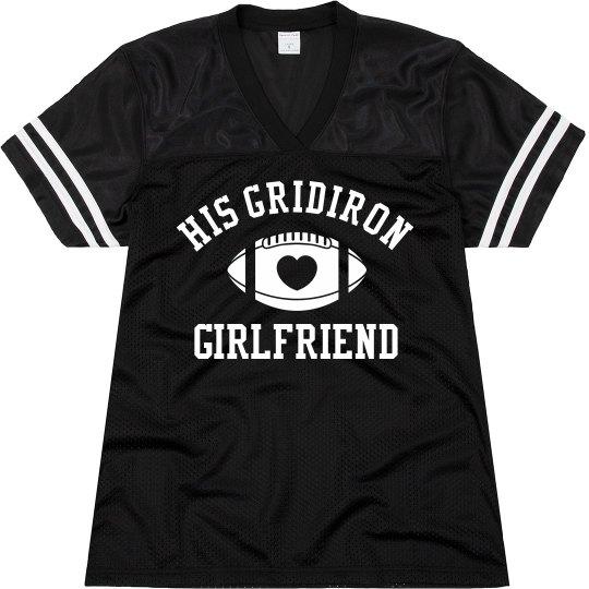 His Gridiron Football Girlfriend With Custom Back
