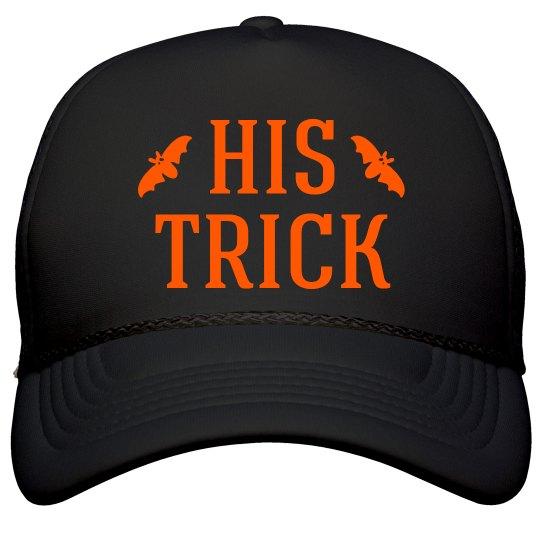 His Trick Halloween Couple Hats