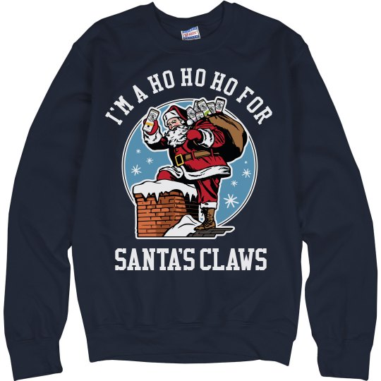 Ho Ho Ho Santa Claws Ugly Sweater