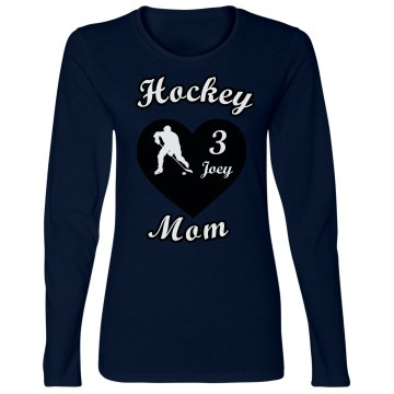 Hockey Mom Name & # Long Sleeve