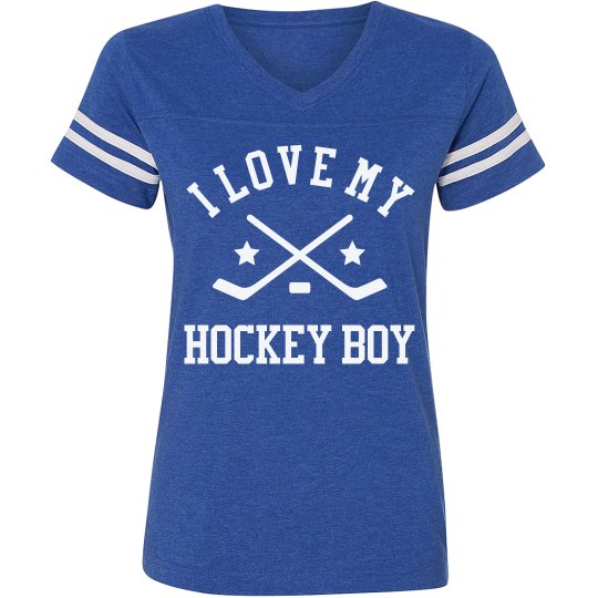 Hockey Mom Striped Shirt