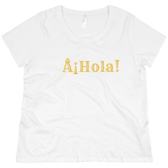 ¡Hola! Tee Yellow Font