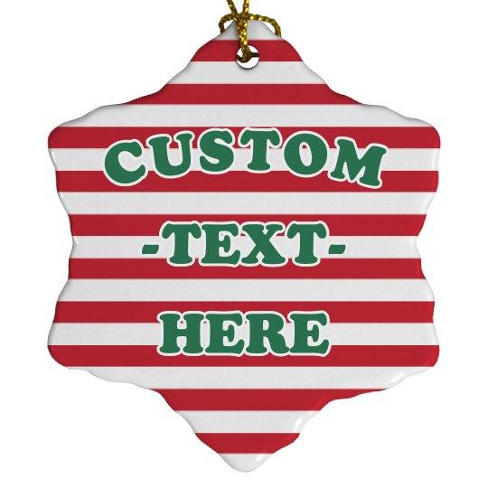 Holiday Candy Cane Custom Decor