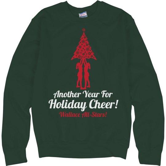 Holiday Cheer Pun Custom Christmas Cheerleaders Sweater