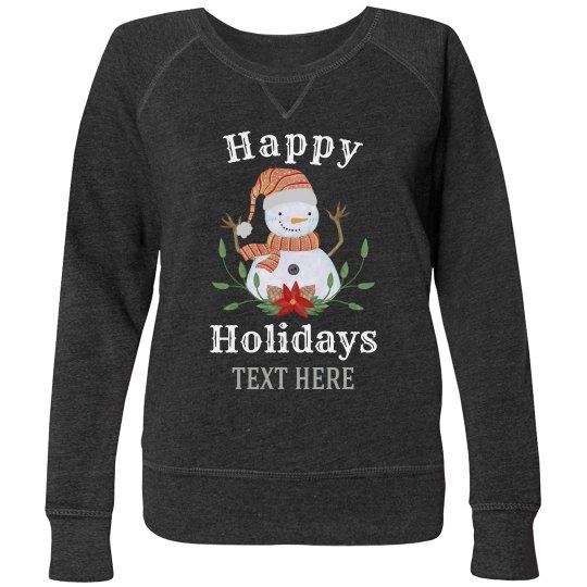 Holiday Snowman Custom Sweater