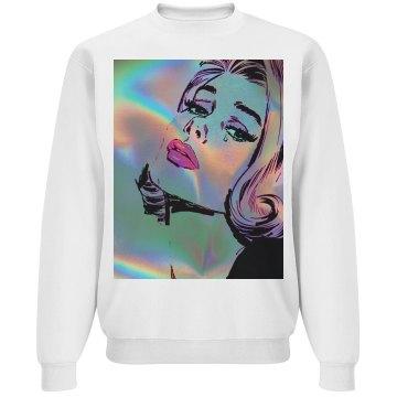 holographic cry sweatshirt