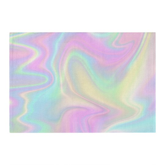 Holographic Pastel Rainbow 90's Kid