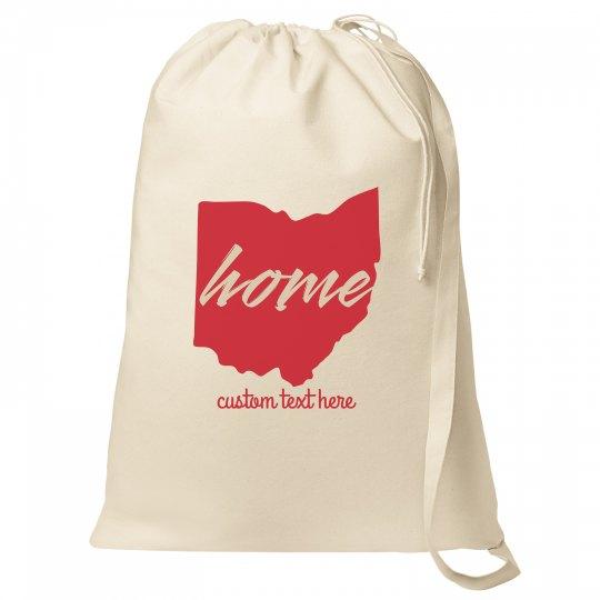 Home in Ohio Custom Laundry Bag