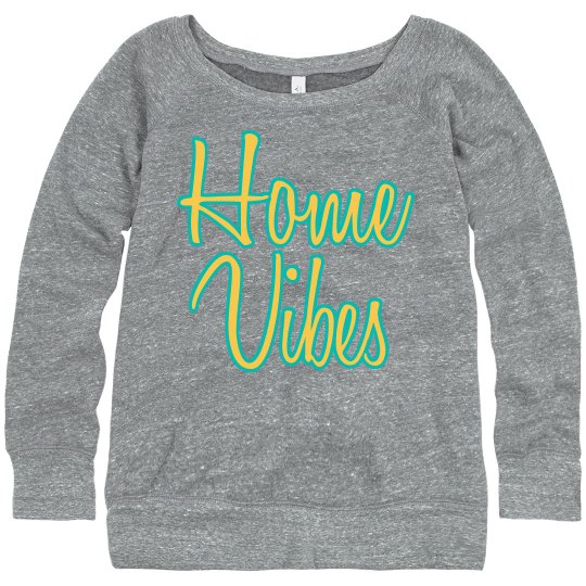 Home Vibes cozy sweatshirt gray