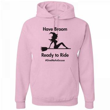 Hoodie Broom Ready to Ride