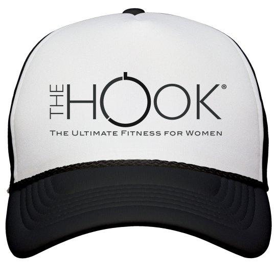 Hook Trucker Hat black and white logo