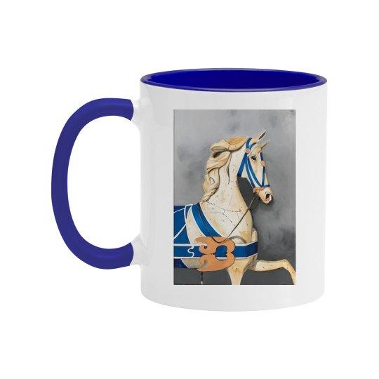 Horse in blue (blue mug)